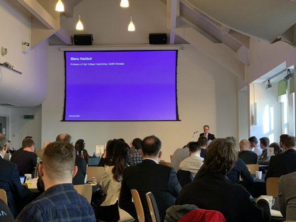 Prof Manu Haddad at the National Grid Electricity Transmission 2019 Innovation Event