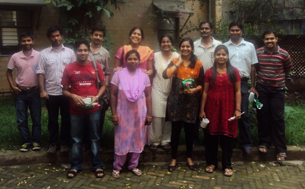 Siva with colleagues at Centre for Sustainable Technologies, Indian Institute of Science, Bangalore